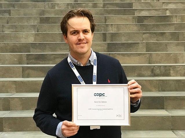 Kyrre Opheim er sertifisert innen COPC i ProffCom. Dette er standarden for kundeservice som vi jobber etter med våre rutiner