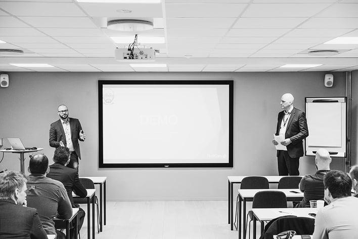 ProffCom avholdt frokostmøte om chatbots i våre lokaler i Nydalen