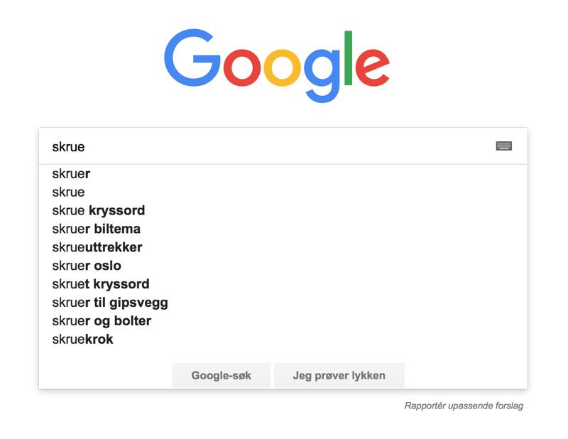 Google gir god innsikt i hva kundene søker etter