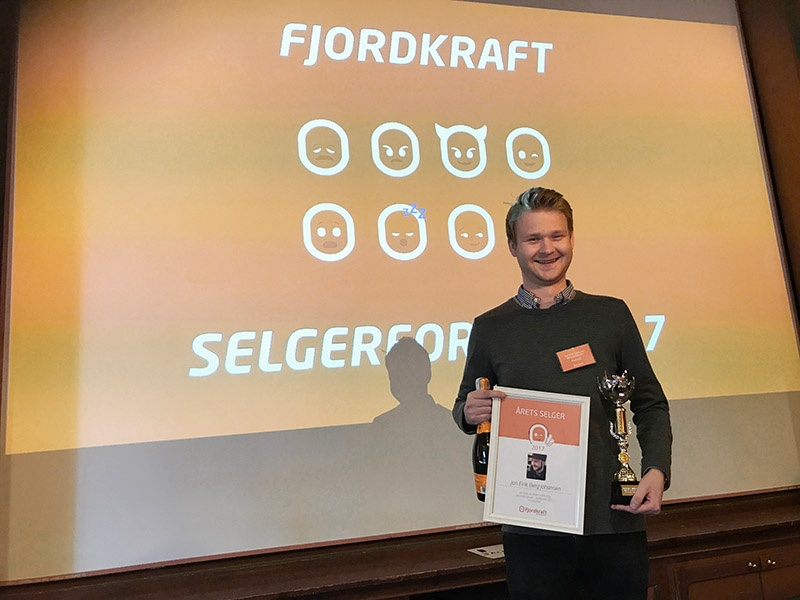 ProffCom vant prisene for årets fjordkraft-salgskanal og årets selger