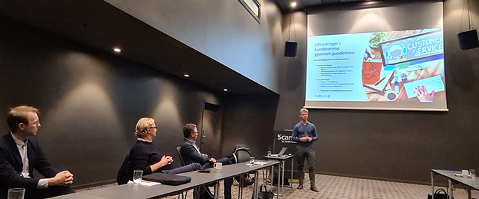 Rune lonkemoen holder foredrag under faglig kundeforum 2021