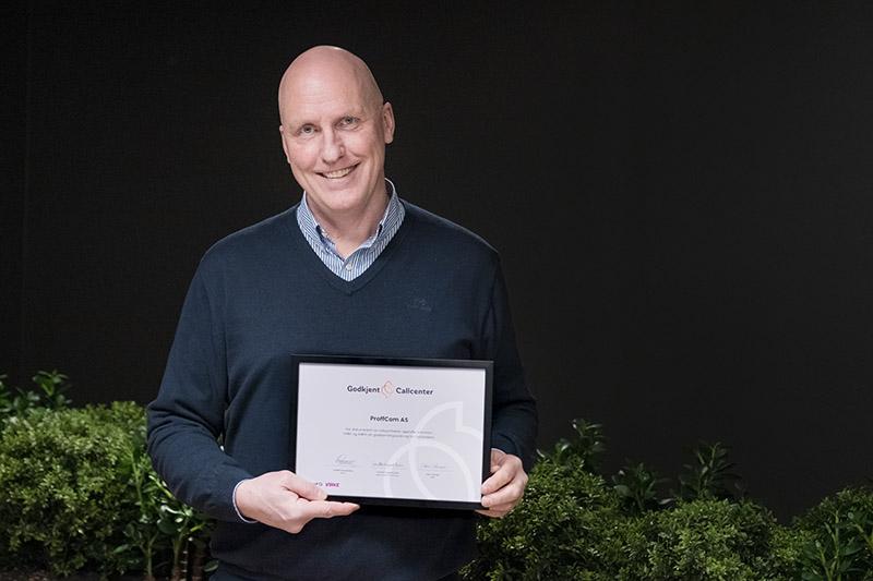 Proffcom fornyer sin sertifisering i Godkjent Callcenter